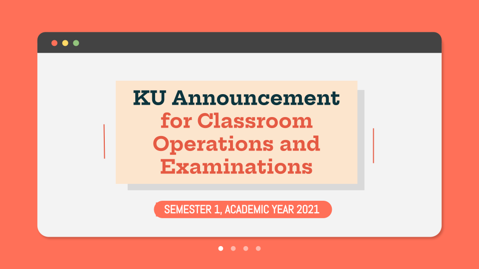 Class Operations and Examinations Announcement for Semester 1, Academic Year 2021